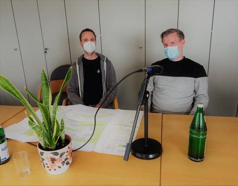 Dominik Moos und Bernd Filies im Juli 2021